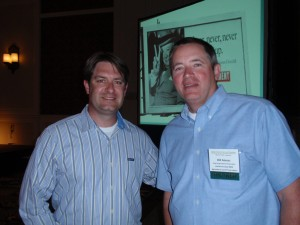 Chad Shrodes with Bill Amoss, both of Harford County, MD, enjoyed the conference.